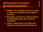 philosophers contribute concept of humanism