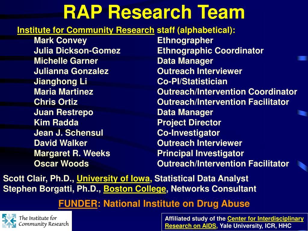 RAP Research Team