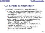 cut paste summarization