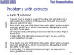 problems with extracts