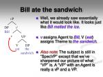 bill ate the sandwich