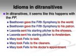 idioms in ditransitives