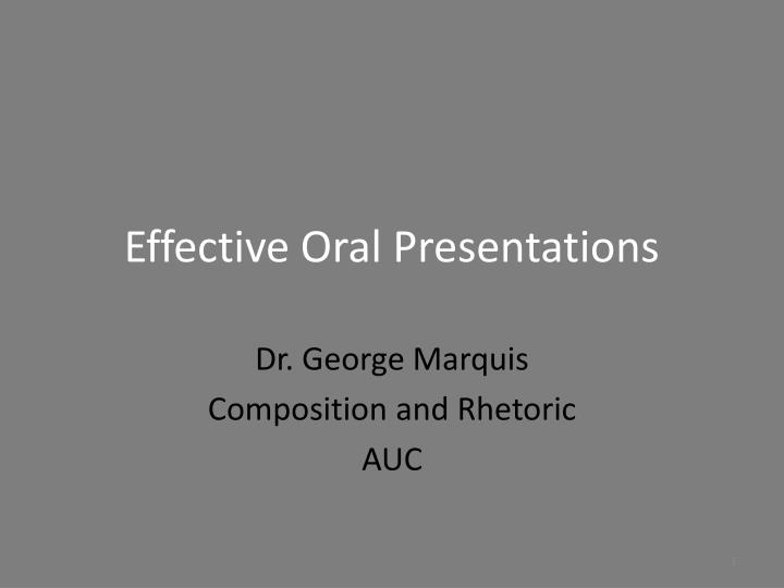 effective oral presentations n.