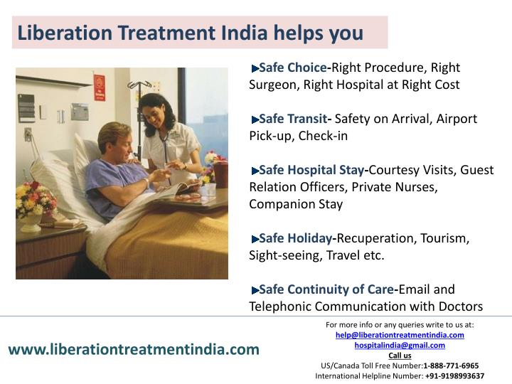 Liberation Treatment India helps you
