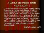 a curious experience before prophethood 2