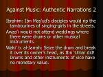 against music authentic narrations 2