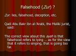 falsehood zur