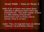 imam malik view on music 2