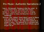 pro music authentic narrations 2