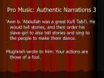pro music authentic narrations 3