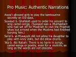 pro music authentic narrations