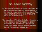 sh juday s summary