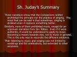 sh juday s summary1