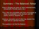 summary the balanced fatwa