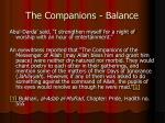the companions balance