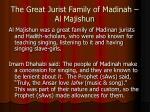 the great jurist family of madinah al majishun