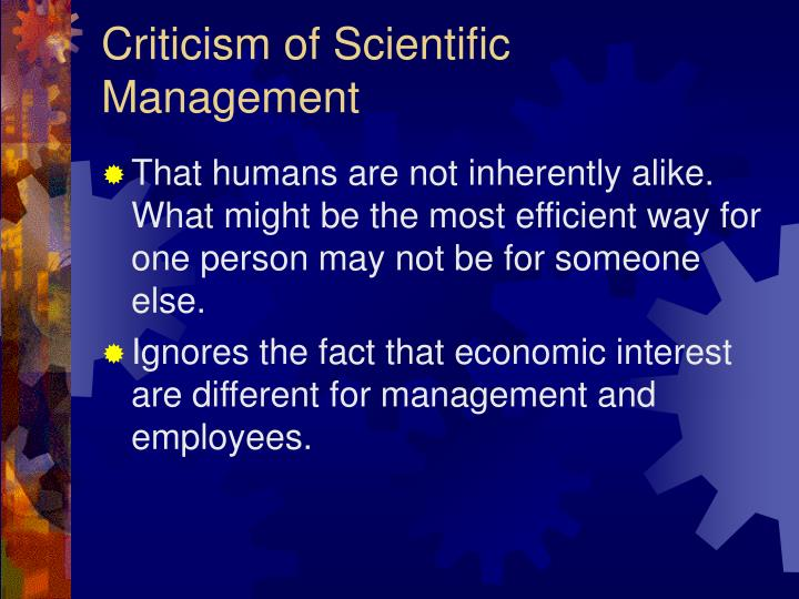 criticism of management theories Get a brief overview of contemporary theories in management in this topic from the free management library.