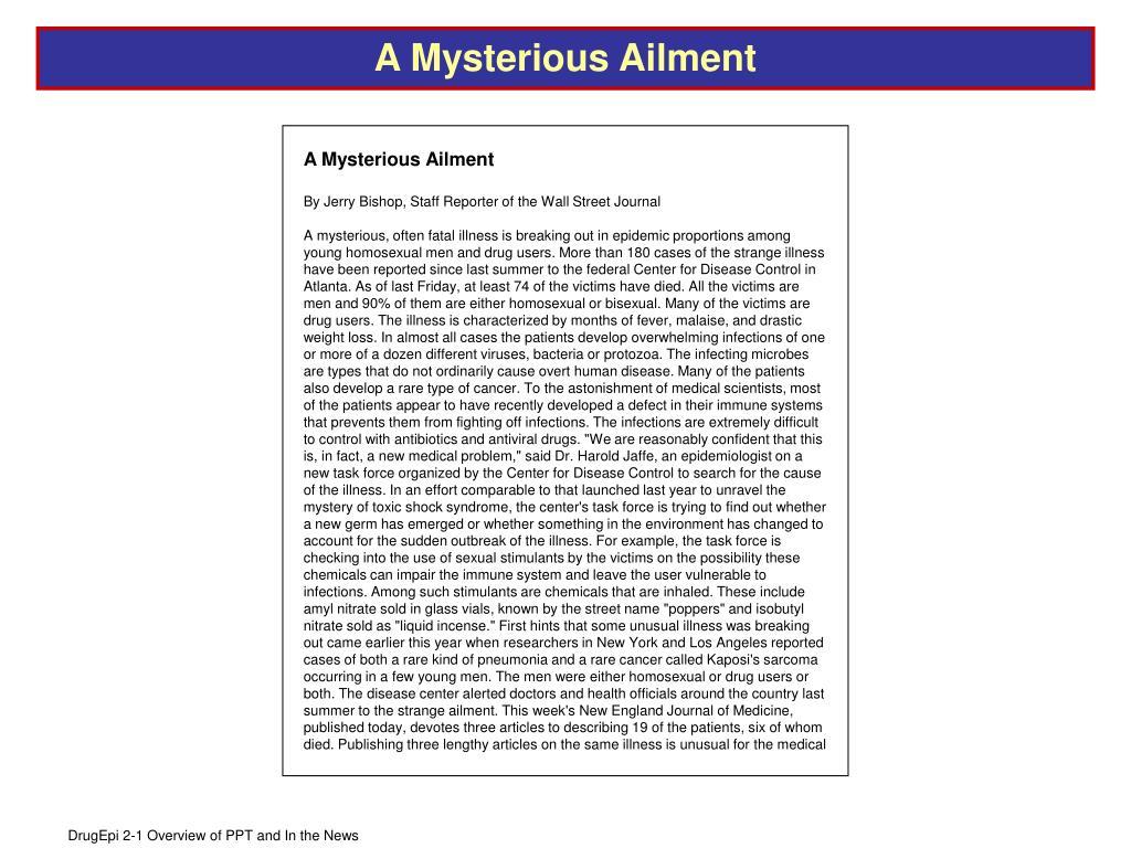 A Mysterious Ailment