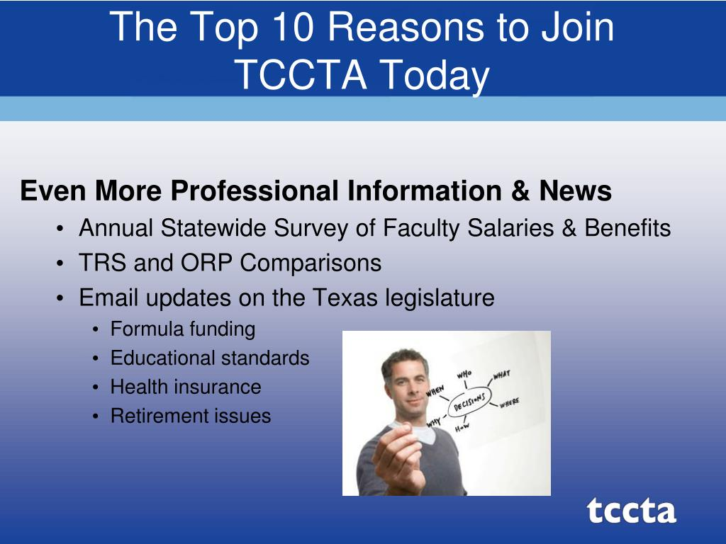 The Top 10 Reasons to Join TCCTA Today