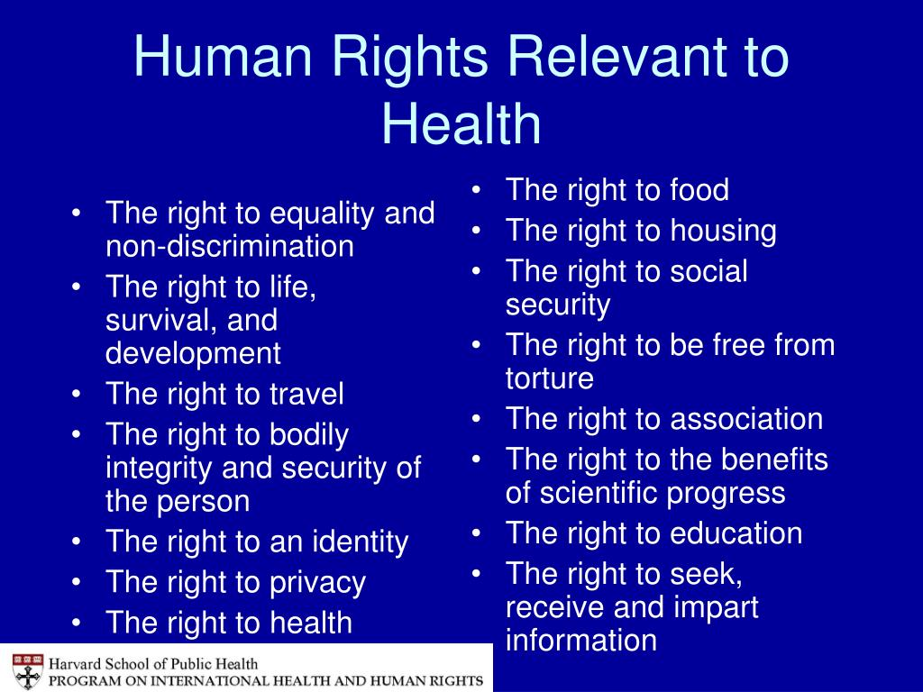 The right to equality and non-discrimination
