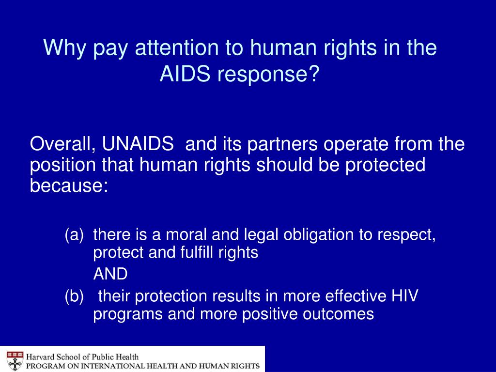 Why pay attention to human rights in the AIDS response?