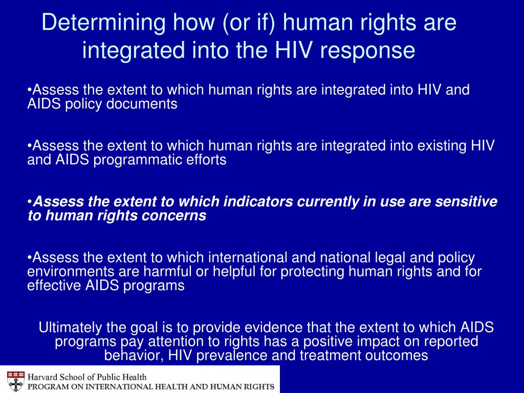 Determining how (or if) human rights are integrated into the HIV response
