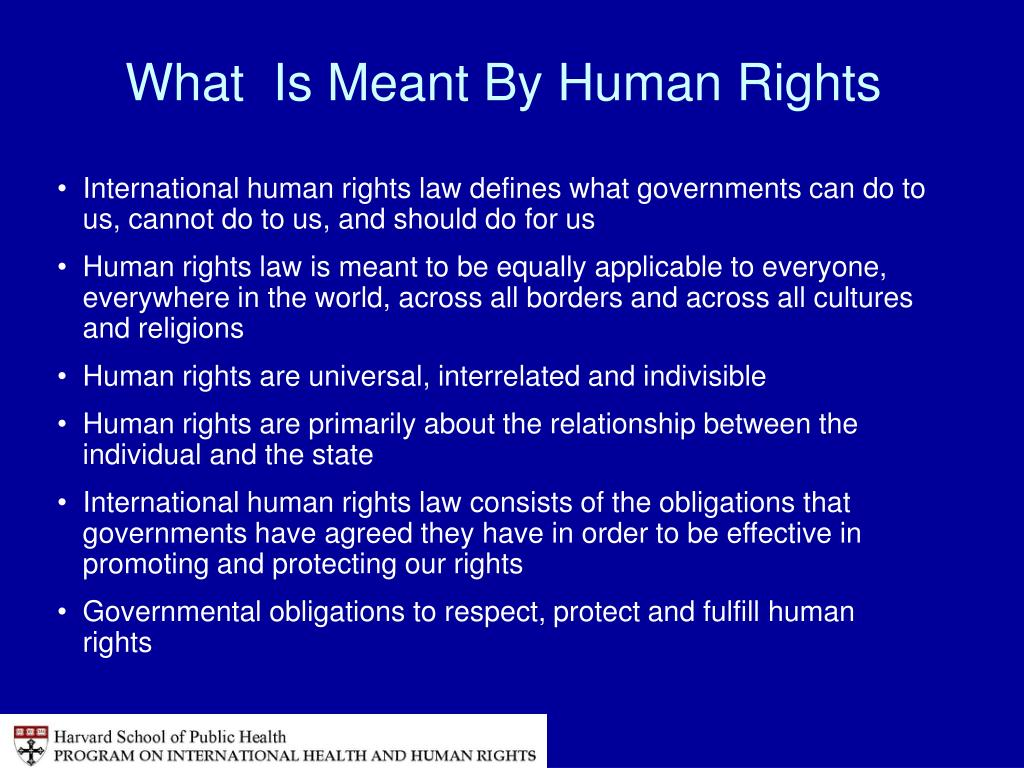 What  Is Meant By Human Rights