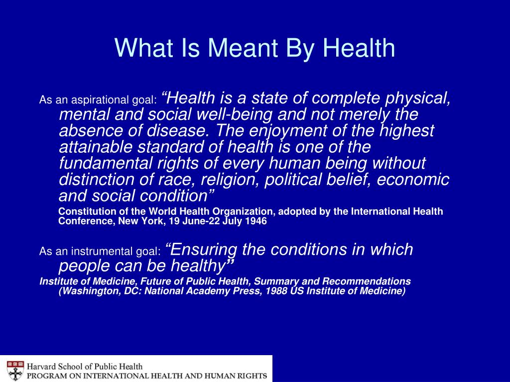 What Is Meant By Health