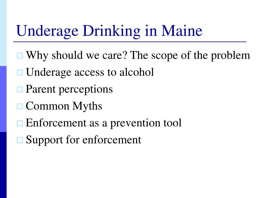 Underage Drinking in Maine