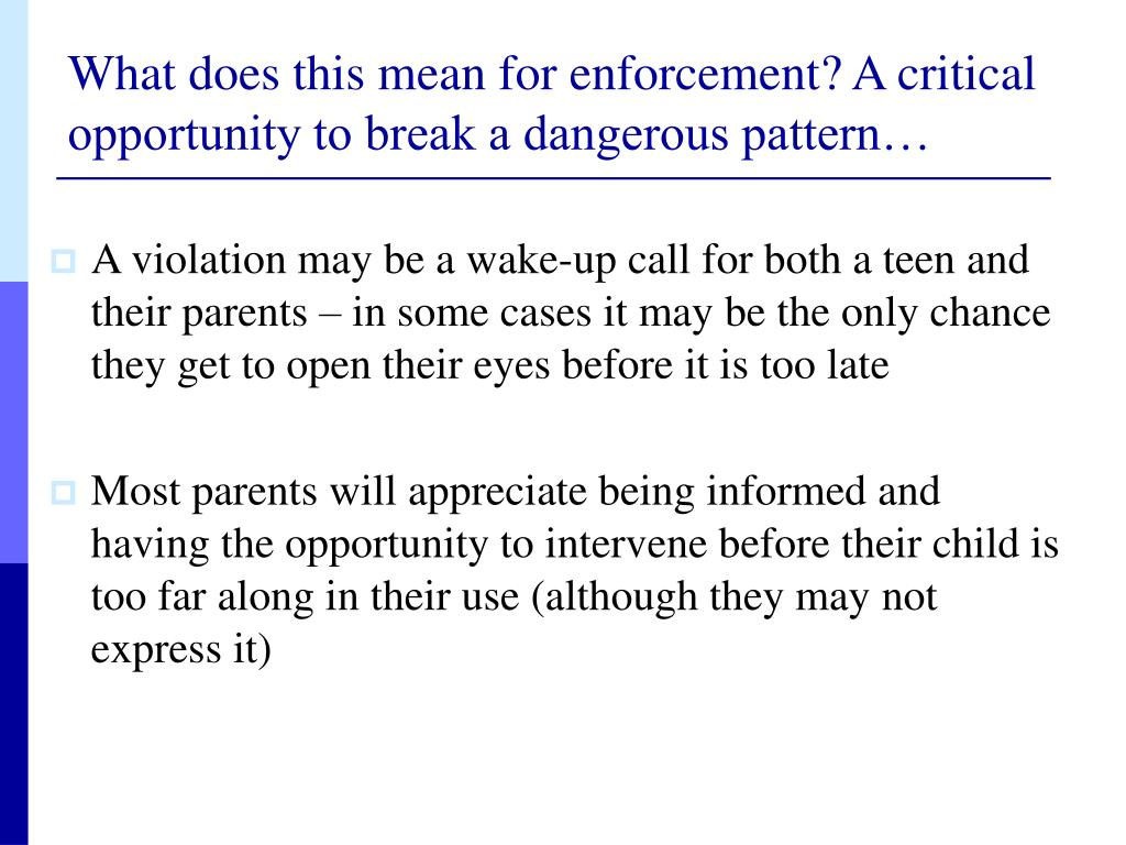 What does this mean for enforcement? A critical opportunity to break a dangerous pattern…