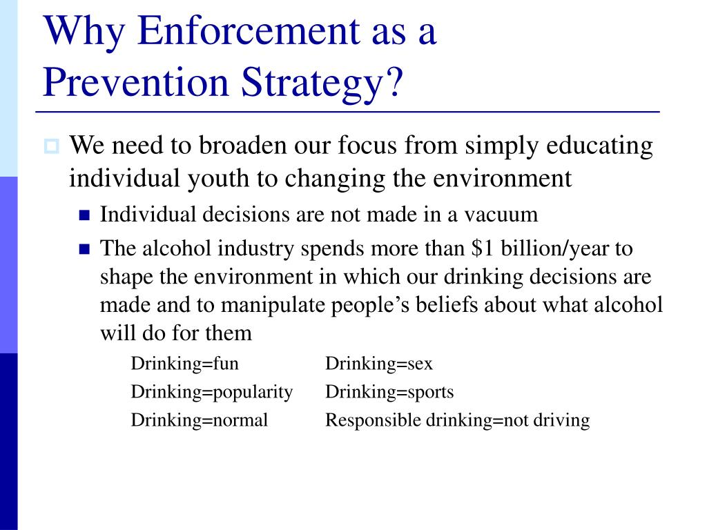 Why Enforcement as a
