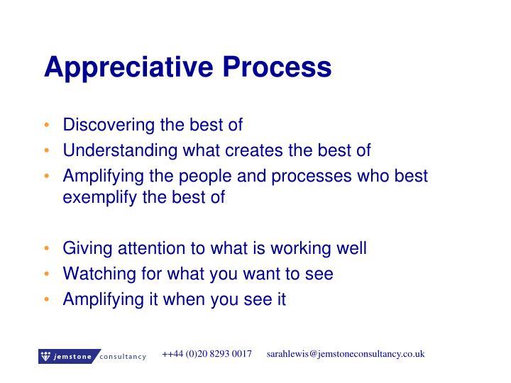 Appreciative Process