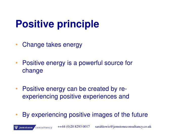 Positive principle