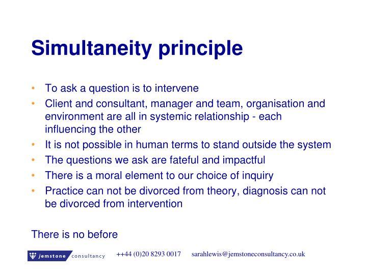 Simultaneity principle