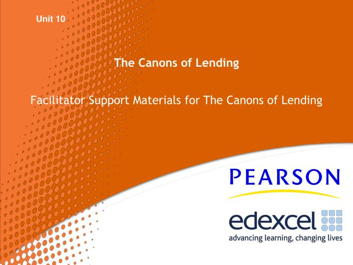 the canons of lending n.