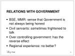 relations with government