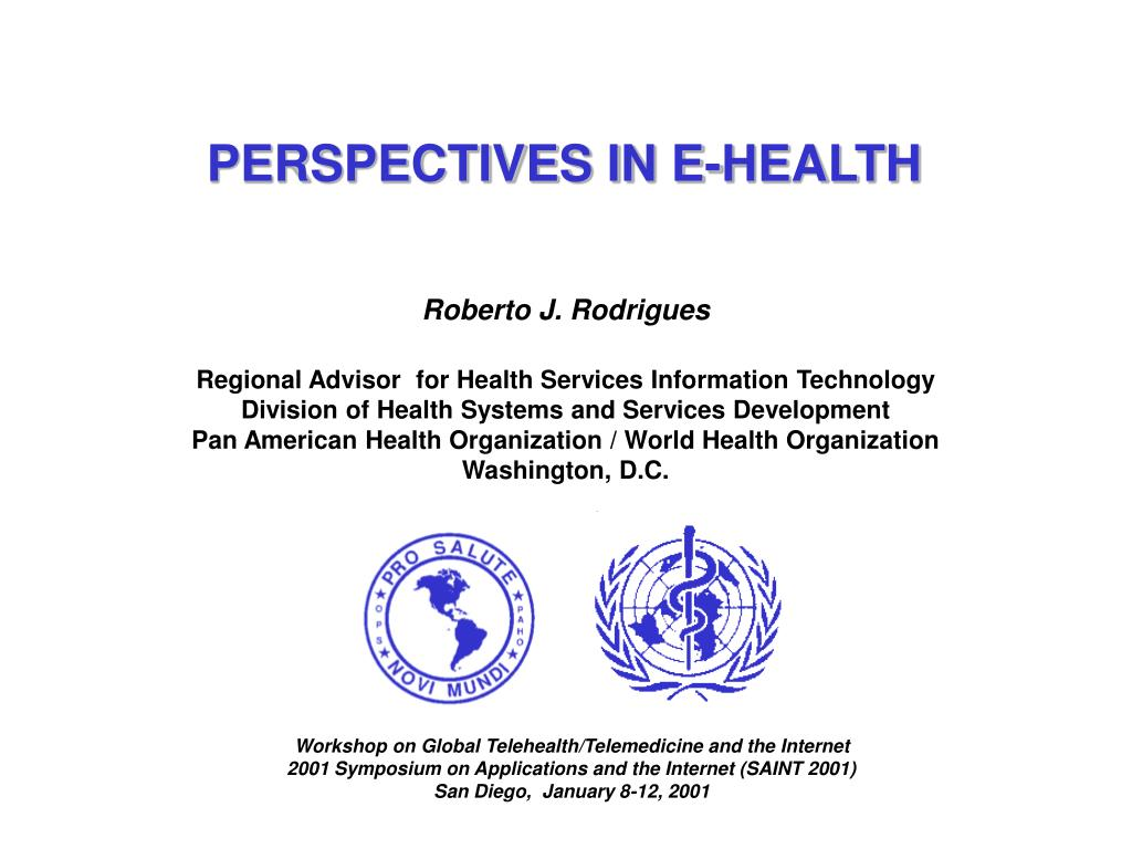 PERSPECTIVES IN E-HEALTH