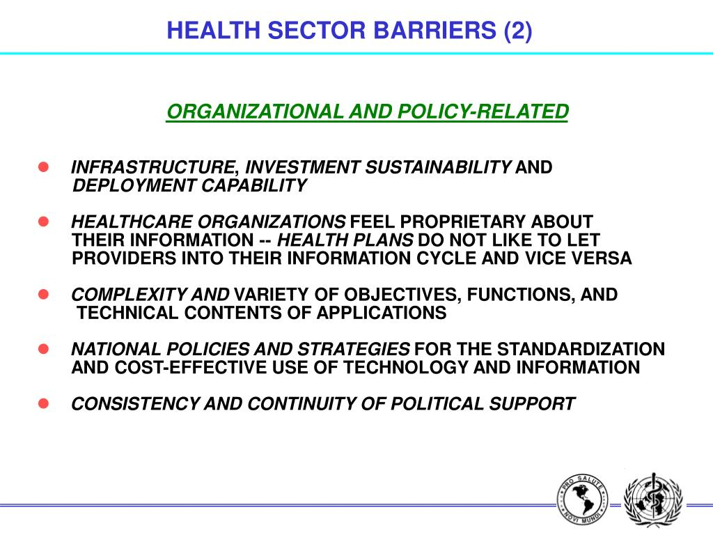 HEALTH SECTOR BARRIERS (2)