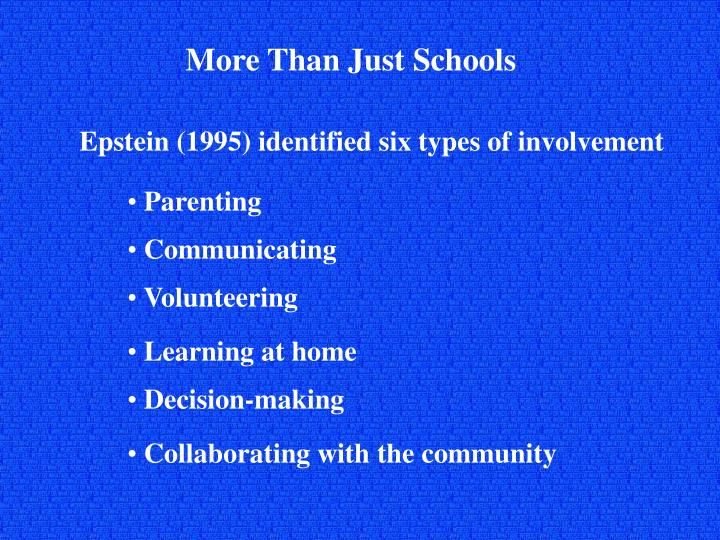More Than Just Schools