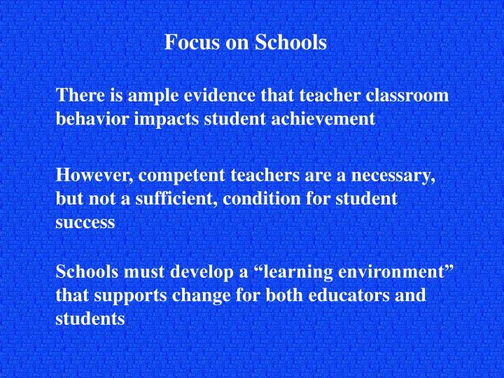 Focus on Schools