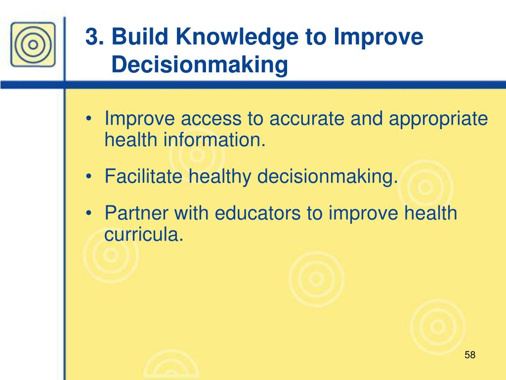 3. Build Knowledge to Improve