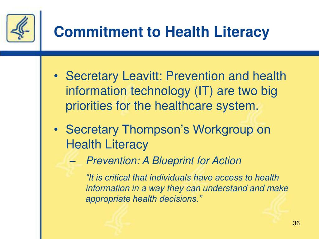 Commitment to Health Literacy