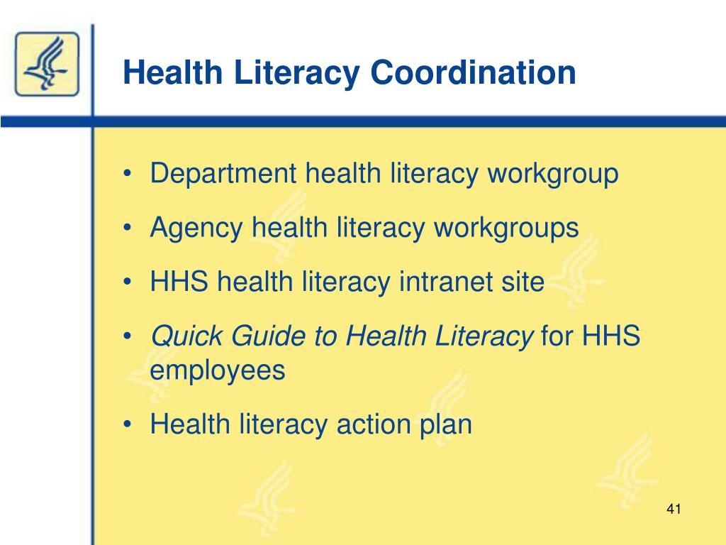 Health Literacy Coordination