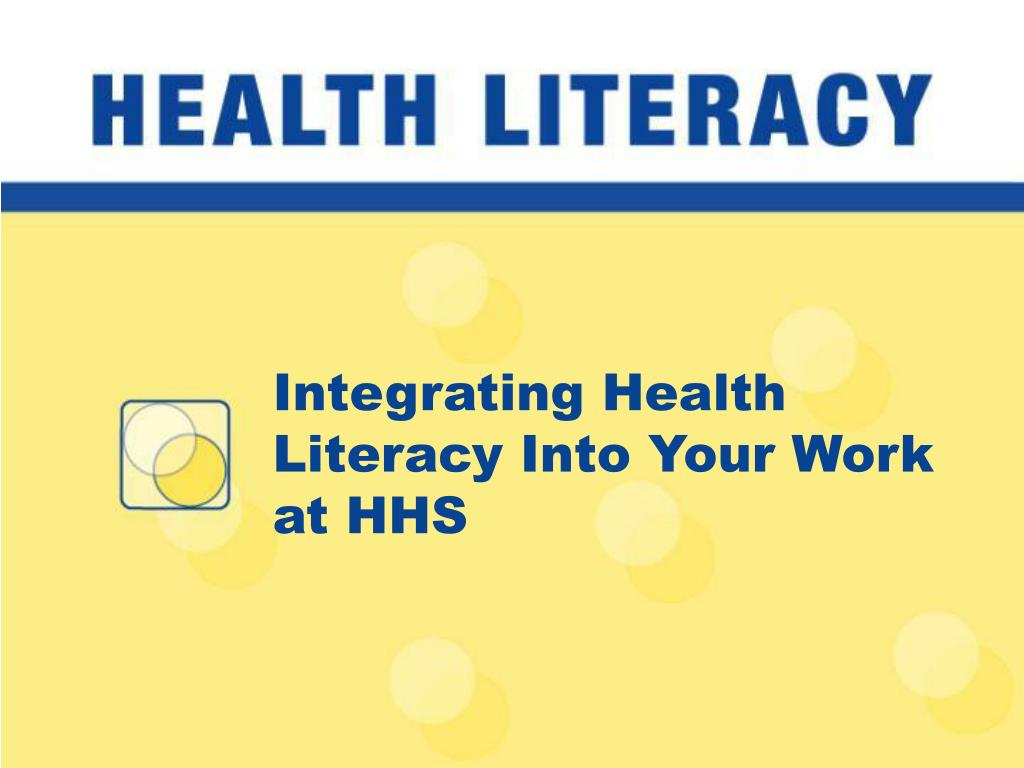 Integrating Health Literacy Into Your Work at HHS