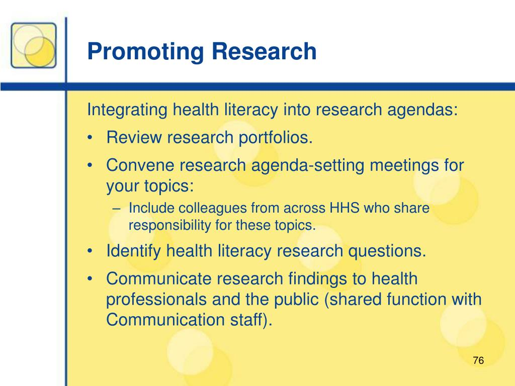 Promoting Research