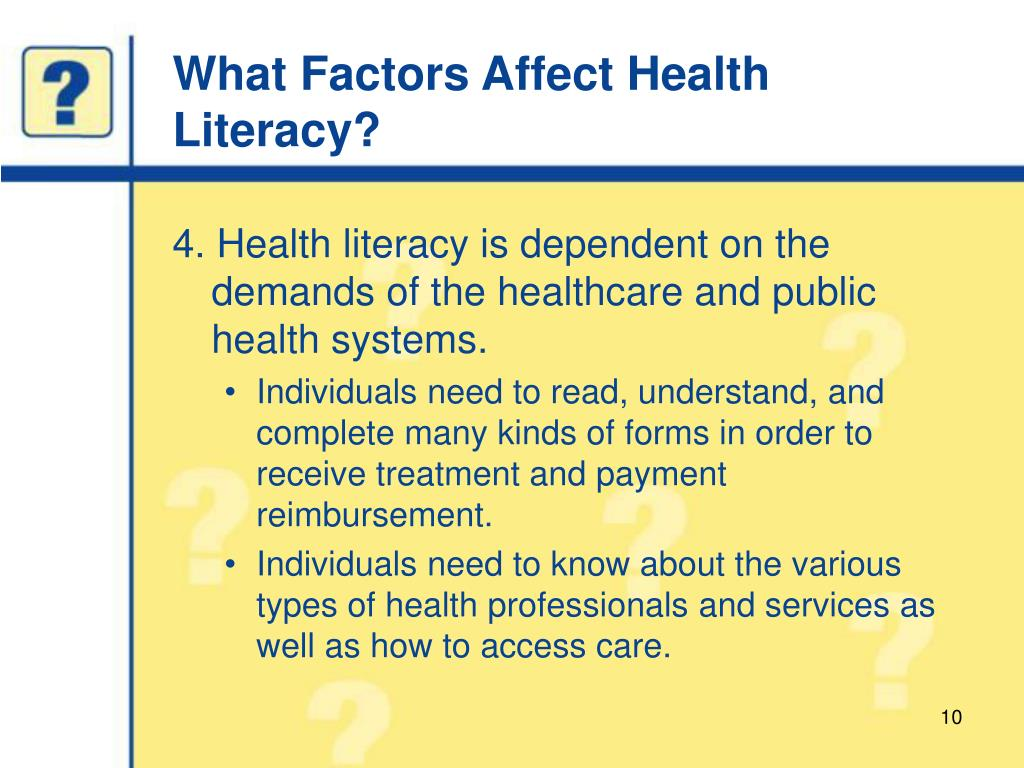 What Factors Affect Health Literacy?