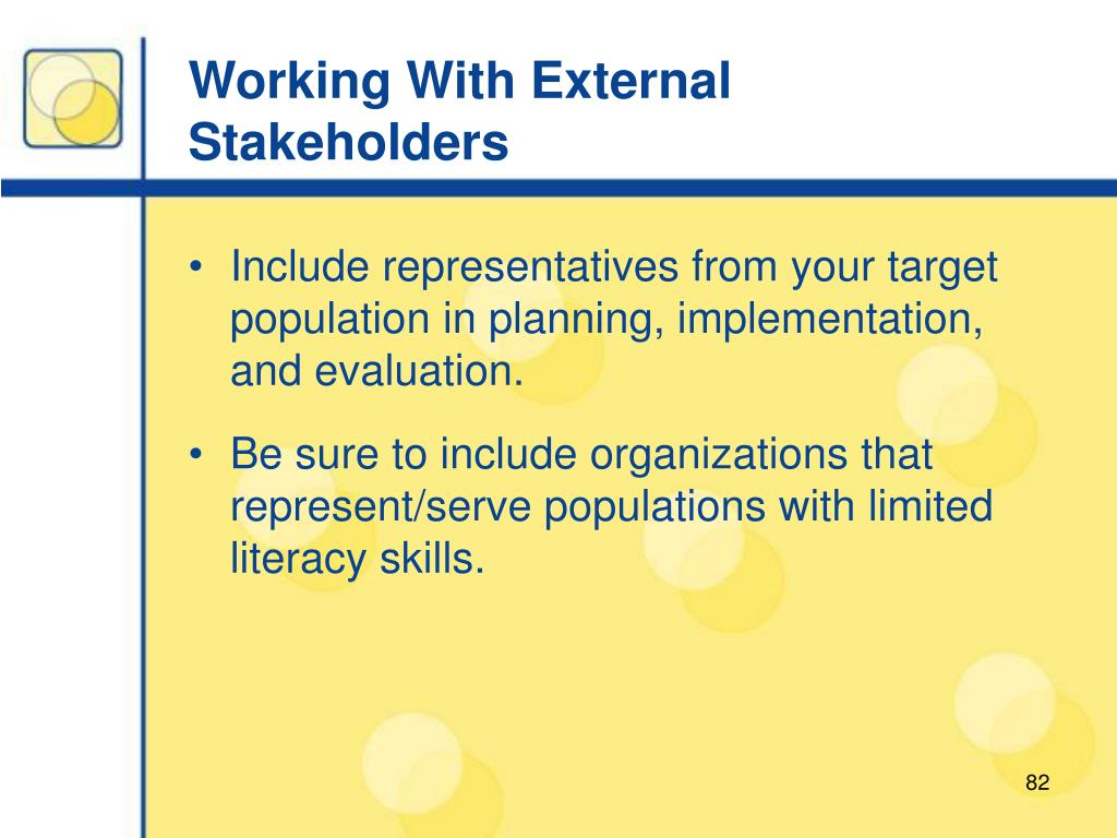 Working With External Stakeholders