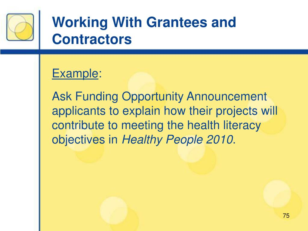 Working With Grantees and Contractors