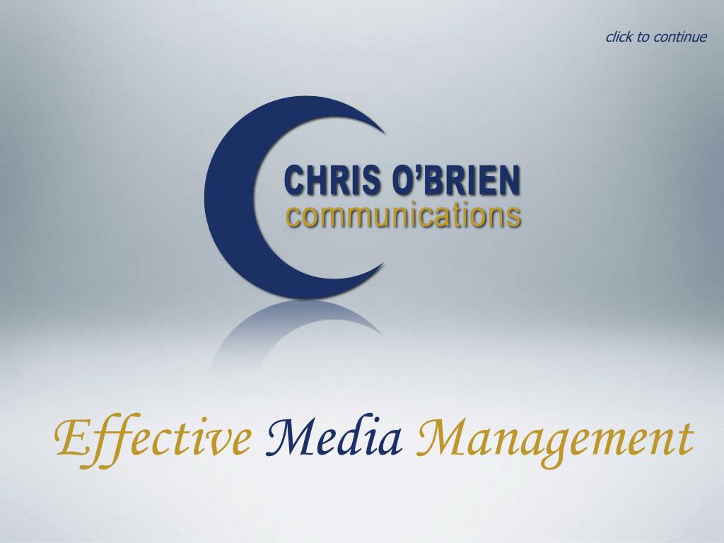effective media management l.