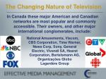 the changing nature of television11